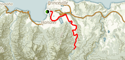 Hanalei River Kayak Map