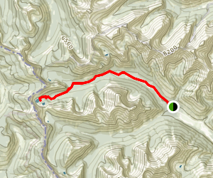 Snowshoe Trail to Twin Lakes Map