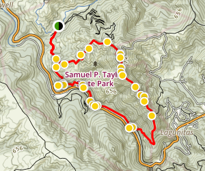 Barnabe Peak Loop via Barnabee Road and Cross Marin Trail Map