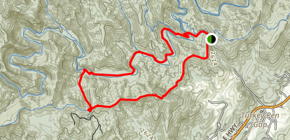 Turkey Pen Gap Trail Map