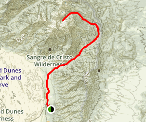 Little Medano Creek Trail to Medano Lake Map