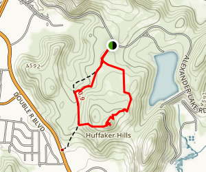 Huffaker Hills Trail Map