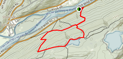 Sunfish Pond via Appalachian Trail Map
