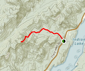 Snowy Mountain Trail Map