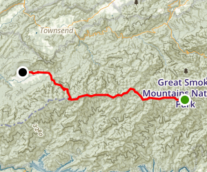 Appalachian Trail: Clingman Dome to Cades Cove Map