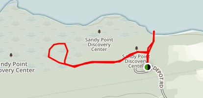 Sandy Point Identification Trail Map