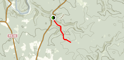 Beartown Rocks Trail Map