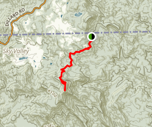 Rabun Bald via Bartram Trail Map