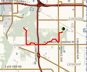 Thorn Creek Bicycle Trail Map