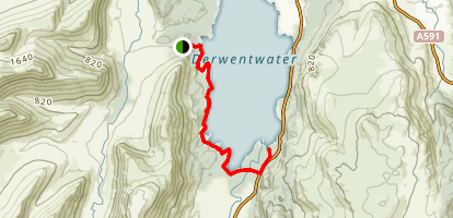 Derwent Water West Shore Map
