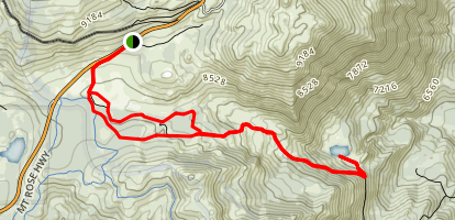 Ophir Creek Trail to Upper Price Lakes Map