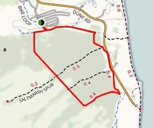 Walking Dunes Trail Map