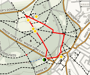 Tunbridge Wells Common Loop Map