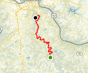 Licking River: Falmouth to Locust Pike Park Map