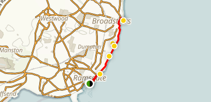 Ramsgate to Broadstairs Loop Map