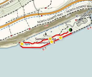Samphire Hoe Country Park Loop Map