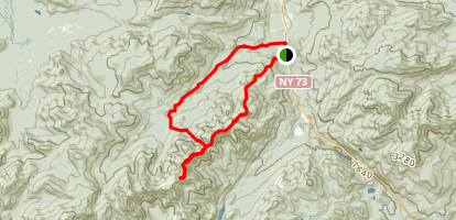 The Wolfjaws via Range Trail and John's Brook Trail  Map