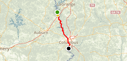Chattahoochee Valley Blueway Via Canoe Map