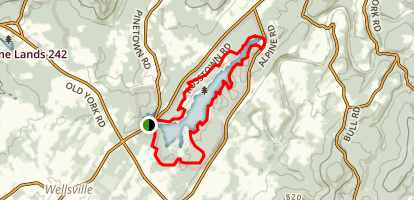 Pinchot Trail Lakeside Loop Map