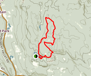 Beartown State Forest Area via Appalachian Trail Loop Map