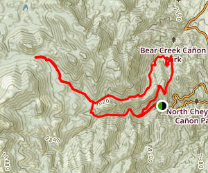 Kineo Mountain and Mount Buckhorn Area Trails Map