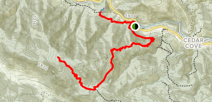 Round Mountain Nature and Summit Trails Map