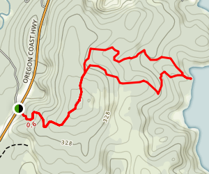 Siltcoos Lake Trail Map