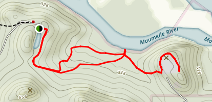 Rocky Valley Trail/East Quarry Spur Map