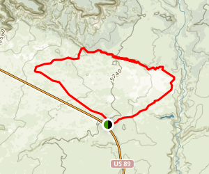 The Sand Hills Loop Trail Map
