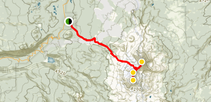 Middle and North Sister Trail Map