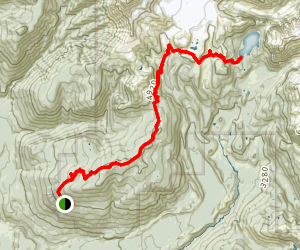 Elfin Lakes Trail to Mamquam Lake Map