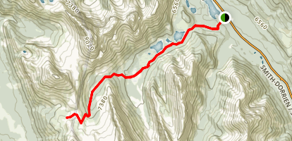 Burstall Pass Trail Map