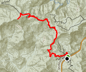 Appalachian Trail: Winding Stair Gap to Silver Bald Map