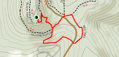 Red Trail Out of Campground Map