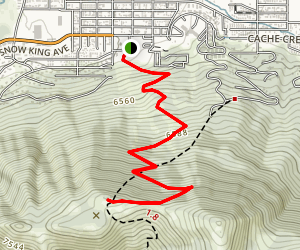 Snow King Summit via Slow Trail Map