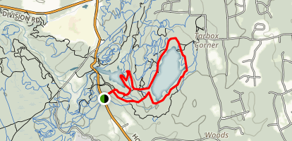 Carr's Pond and Tarbox Pond Map