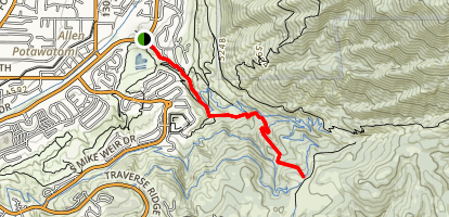Lower Corner Canyon Road Map