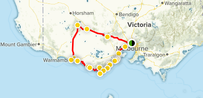 The Great Southern Touring Route Map