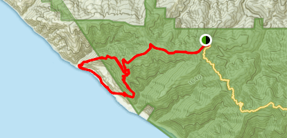 Spanish Ridge Loop Trail Map