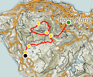 Victoria Peak Tram and Walk Map