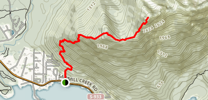 Mount Verstovia Trail Map