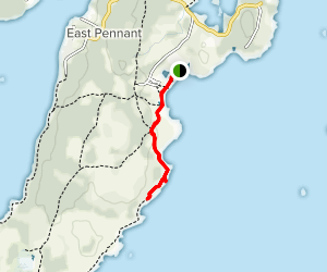 Crystal Crescent Beach Provincial Park Trail Map