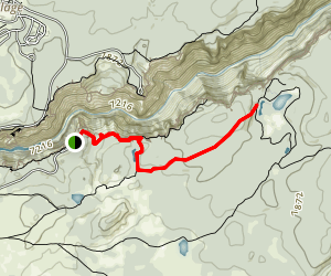 Ribbon Lake Trail Map
