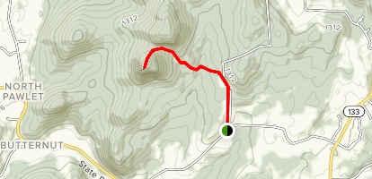 Haystack Mountain via Colby M. Chester Memorial Trail Map