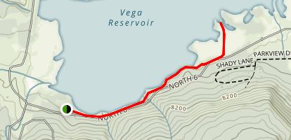 Vega Reservoir Trail Map