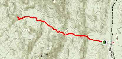 Grapevine Canyon Trail Map