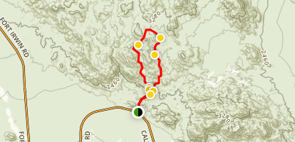 Doran Loop and Odessa Canyon Map