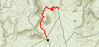 Mustang Pass Trail Map