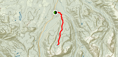 Main Fork Bear River Trail to Hell Hole Lake Map