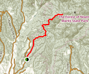 6 Mile Trail to West Ridge Trail Map